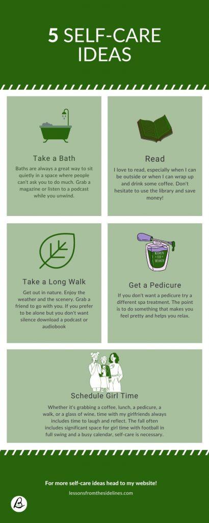5 Self-Care Ideas Infographic