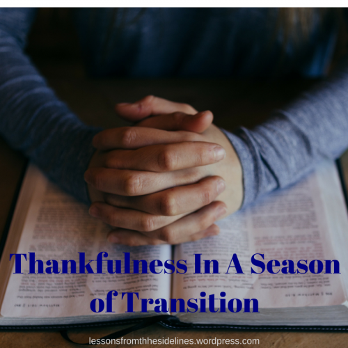 thankfulness in a season of transition