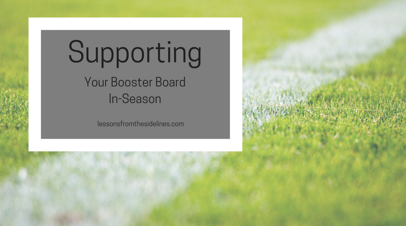 Supporting Your Booster Board In-Season