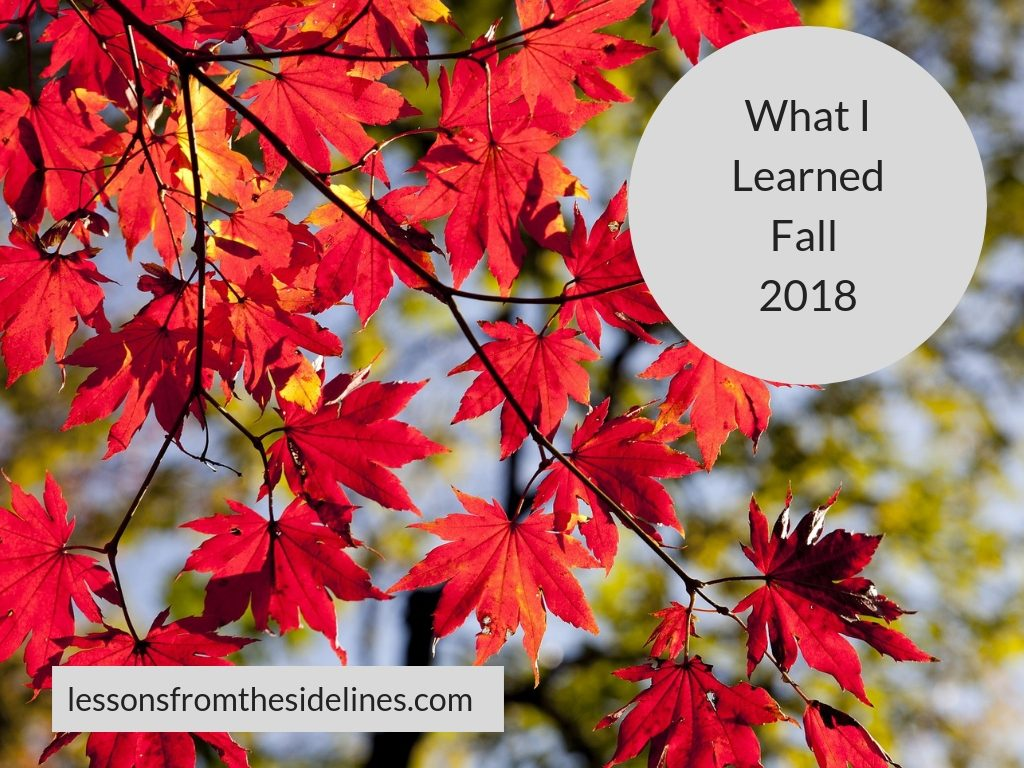 What I LearnedFall 2018
