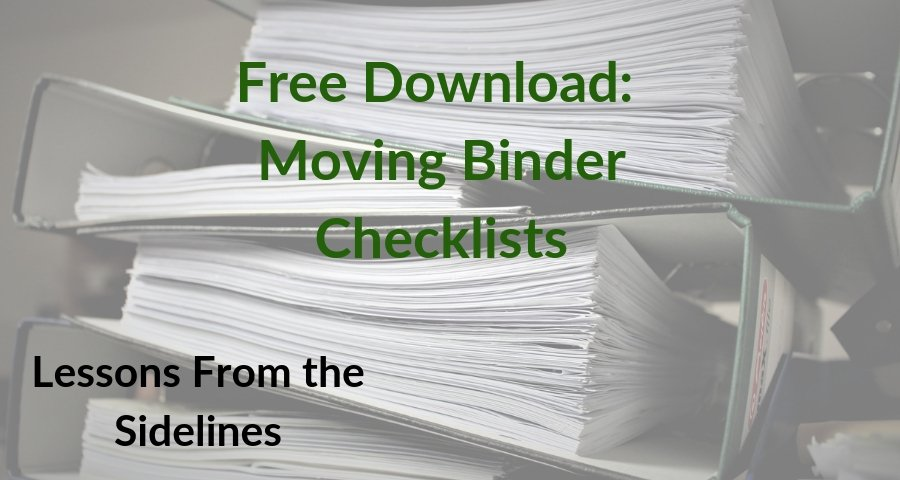 Moving Binder Checklists