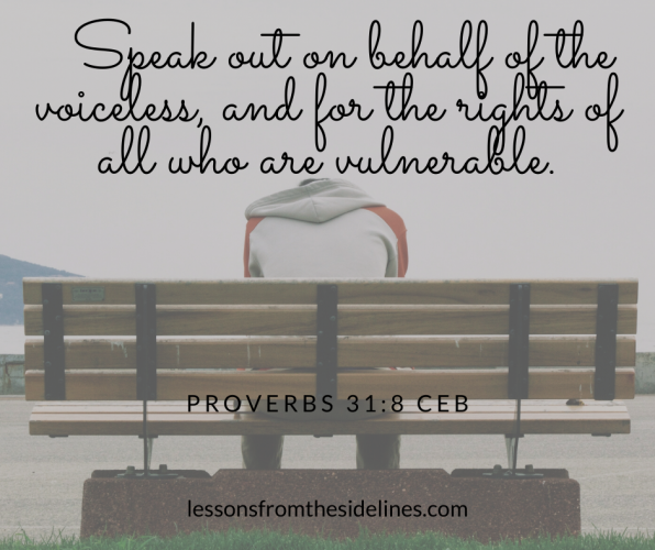 Proverbs 31:8 A Voice for the Voiceless