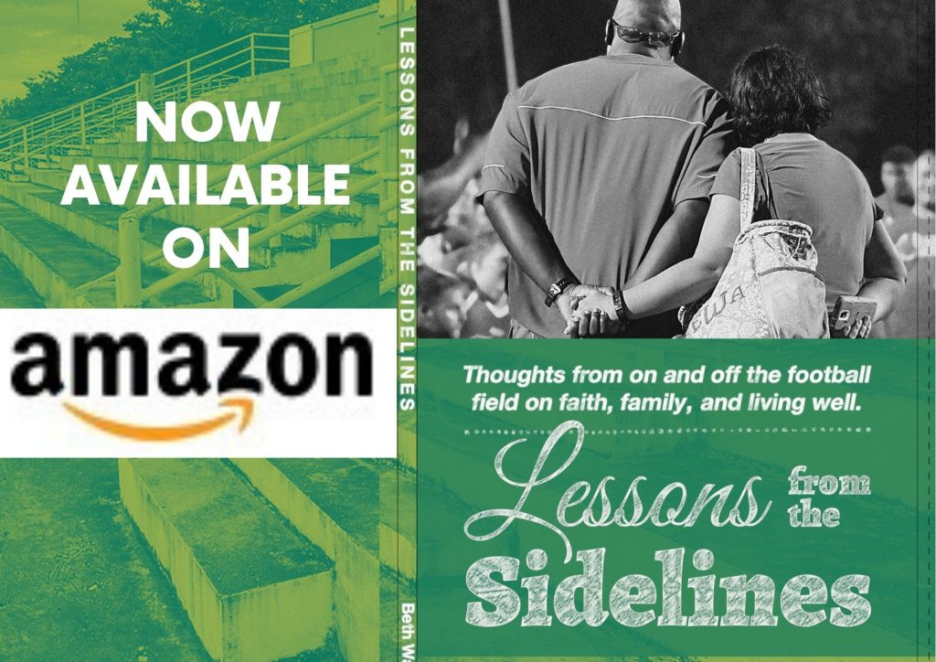 Amazon announcement for Lessons from the Sidelines