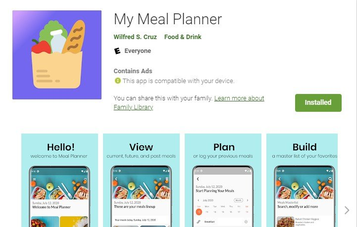My Meal Planner App - Best Apps for the Busy Wife