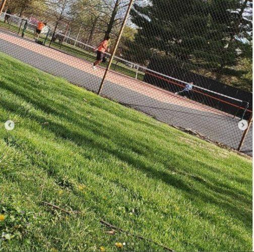 Elijah plays tennis