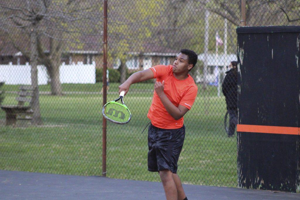 Elijah first tennis match
